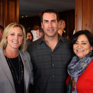 Rob Riggle with CiCi Rojas