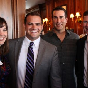 Rob Riggle with Members of the Visit KC Marketing Team